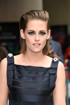 This teased and slicked back 'do is the ultimate in cool hair on Kristen Stewart.