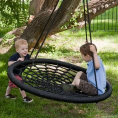 Amazon.com: Swing and Spin -- X-large Best Tree & Porch Swing: Toys & Games