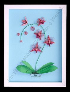 Paper quilling orchid | by Inna's Creations