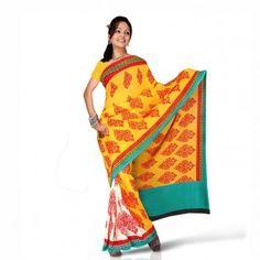 Saree with motif print for $30