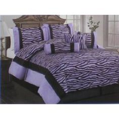 created by Bedroom-Decor-Ideas - Blue zebra is very popular with tween, teens and adults. Blue zebra bedding is a gorgeous color combination for any bedroom decor. A blue zebra. Black Comforter Sets, Full Size Comforter Sets, Purple Comforter, King Size Comforters, Queen Comforter Sets, Black Bedding, Fur Comforter, Bed Sets, Pink Bedding