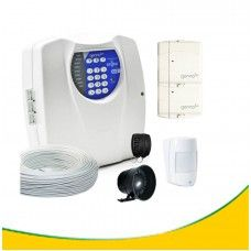 Kit alarme residencial com discadora + 4 setores +3 sensores + 2 controles Cod KA4