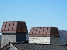 Cypress Metals is the premier chimney cap manufacturer in Salt Lake City, Utah. Stone Chimney, Chimney Cap, Porch Plans, Shed Roof, Metal Fabrication, Salt Lake City, Outdoor Furniture, Outdoor Decor, Sun Lounger