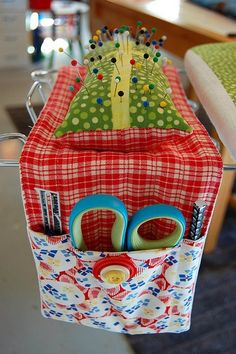 Ironing board caddy for a sewing room Sewing Hacks, Sewing Tutorials, Sewing Patterns, Tutorial Sewing, Sewing Tips, My Sewing Room, Sewing Rooms, Fabric Crafts, Sewing Crafts