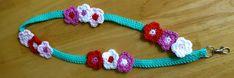 Da's Crochet Connection: Flowery Lanyard Pattern by Lynne Samaan Crochet Girls Dress Pattern, Baby Boy Crochet Blanket, Crochet Blanket Patterns, Knitting Patterns, Crochet Lanyard, Crochet Keychain Pattern, Crochet For Kids, Crochet Ideas, Free Crochet