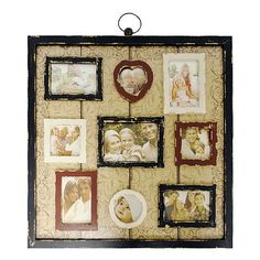 Cute collage frame from Kohls. Weathered 9-Opening Collage Frame, I'm gonna make something like this!