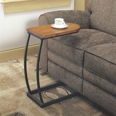 Coaster Company Distressed Oak U-Shaped Snack Side Sofa Table (Oak), Black