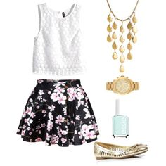 Summer by ellie252002 on Polyvore featuring polyvore, fashion, style, H&M, Ivanka Trump, John Hardy, Michael Kors and Essie