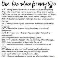 One liner advice for MBTI types. ESTJ - you can't fit individual differences into the same model (you). Enfj Personality, Personality Psychology, Myers Briggs Personality Types, Psychology Memes, 16 Personalities, Myers Briggs Personalities, Intj And Infj, Entj, Introvert