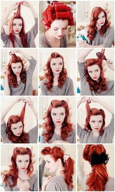 Pin-Up Victory Rolls::: How To