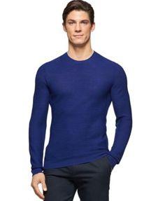 Calvin Klein Textured Crew-Neck Sweater