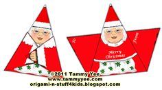 Origami n' Stuff 4 Kids: Origami Mrs. Claus Gift Tag or Christmas Card