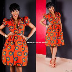 I like the cut on this Flamigo Dress African Print Dresses, African Wear, African Attire, African Fashion Dresses, African Women, African Dress, African Prints, African Shop, Ghanaian Fashion