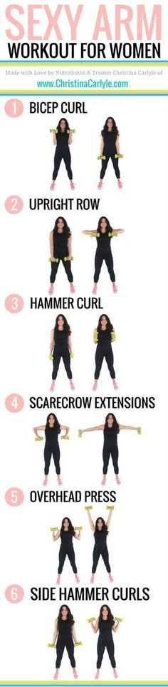 Do your arms make you self conscious? This Arm Workout for Women will help you tighten and tone your arms fast. Try this arm workout for women now. #WomanFitness