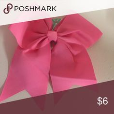 "Pink Hair Bow 8"" L x 7.5"" W, 2.25"" Alligator Clip. Grosgrain material. New with tags. Accessories Hair Accessories"