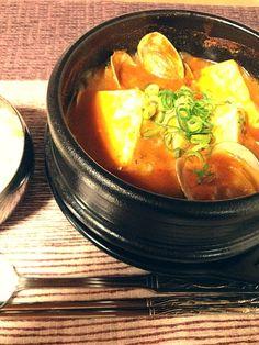 アサリをたくさん入れて…辛くて美味しい - 31件のもぐもぐ - スンドゥブ☆ korean Tofu hotpot ☆ by miya0724
