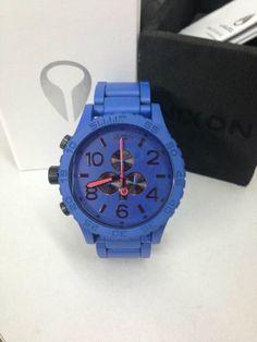 Nixon 51 30 Chrono Blue Paint Men's Wrist Watch | eBay