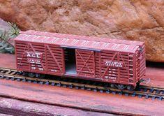 Vintage Model Train Boxcar HO Scale Atlantic Coast Line. $14.75, via Etsy.