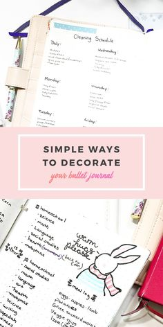 Decorate bullet journal