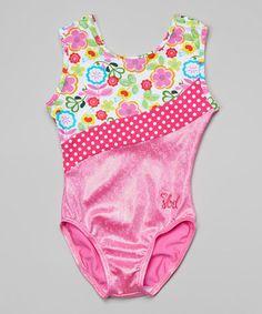 Another great find on #zulily! Hot Pink Flower Scout Leotard - Toddler & Girls by SBD Sportswear #zulilyfinds