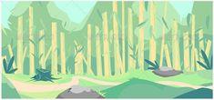 Vector forest cartoon background