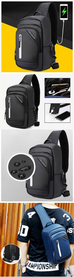 Outdoor Travel Outfit: Shoulder Bag with USB Place