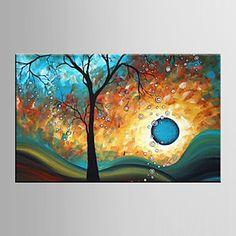 Handgeschilderde Landschap / Bloemenmotief/BotanischModern Eén paneel Canvas Hang-geschilderd olieverfschilderij For Huisdecoratie – EUR € 51.64