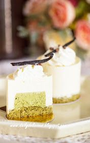 dailydelicious: Vanilla mousse and green tea entremets