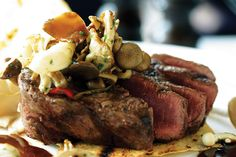 Protein rich recipe of beef fillet with wild mushrooms and a red wine jus from our head Chef Alessandro. Buon Appetito!