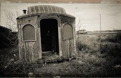 https://flic.kr/p/H3wG9S | The Sad Passenger Car | Abandoned Passenger Car, Staples, MN - October 1982