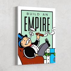 Build An Empire - Motivational Canvas Art – Inktuitive Canvas Wall Art, Modern Painting, Canvas Prints, Canvas Frame, Wall Art Canvas Prints, Framed Canvas Art, Art, Canvas Art, Canvas Painting