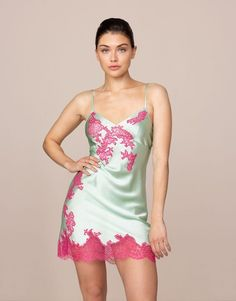 Shop The Collection Of Luxury Slips, Babydolls & Pyjamas By Agent Provocateur. Slip Into Something More Comfortable With Our Sexy Slips, Gowns & Sheer Babydolls Agent Provocateur, Mint Shorts, Long Slip, Short Gowns, Fashion Outfits, Womens Fashion, Ladies Fashion, Nightwear, Lounge Wear