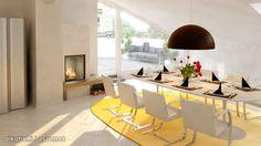 Yellow carpet and white dinette / Keltainen matto ja valkoinen ruokailuryhmä