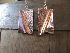 Sensual Chic  Hammered Copper Earrings by BeachBooty on Etsy, $28.00