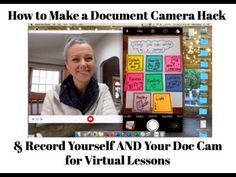 Recording Yourself AND Your Doc Camera Hack for Virtual Lessons / How to. Teaching Technology, Educational Technology, Technology Lessons, Teaching Biology, Teaching Kindergarten, Online Classroom, Flipped Classroom, Blended Learning, Teaching Strategies