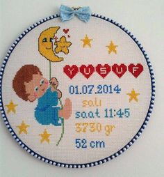 This Pin was discovered by Joa Hand Embroidery Videos, Baby Embroidery, Cross Stitch Embroidery, Embroidery Patterns, Cross Stitch Alphabet Patterns, Mini Cross Stitch, Baby Knitting Patterns, Cross Stitching, Crochet
