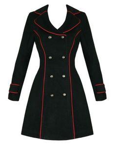 #tragicbeautiful Stoker Red Piping Coat