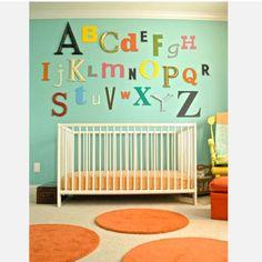 ABC wall for nursery