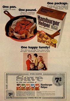 early hamburger helper ad