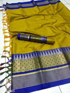 Sarees Drishya Cotton Silk Jari Saree  Fabric: Saree -  Cotton Silk Blouse - Cotton Silk Size: Saree Length - 5.5 Mtr Blouse Length - 0.8 Mtr Work :Jari  Work Country of Origin: India Sizes Available: Free Size   Catalog Rating: ★4 (500)  Catalog Name: Hrishita Drishya Cotton Silk Jari Saree CatalogID_130067 C74-SC1004 Code: 995-1064665-1551