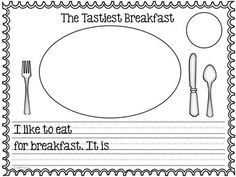 With this opinion writing lesson, students will enjoy writing about a breakfast they enjoy and reasons why.