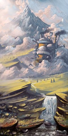 Howl's Moving Castle illustration // my all-time favorite miyazaki film.