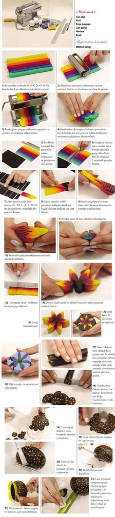 Polymer clay photo tutorials