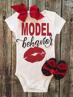 Model Behavior Baby Girl Onesie - BellaPiccoli