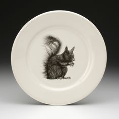 Laura Zindel Design - Dinner Plate: Squirrel White, $50.00 (http://www.laurazindel.com/dinner-plate-squirrel-white/)