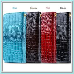 Worth *17* Cool Points!  Item 1479  iPhone 6 Plus, 6, 5/5S - Rich Croc Design Wallet Case in Assorted Colors  - Specialty:   Features:    (FREE U.S. SHIPPING!)