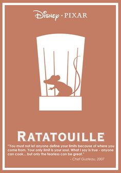 Ratatouille (2007) ~ Minimal Movie Poster by Ben Xue #amusementphile