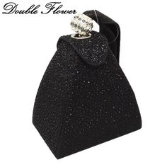 Find More Top-Handle Bags Information about Double Flower Vintage Retro  Pyramid Fashion Women Crystal d873b8196c13