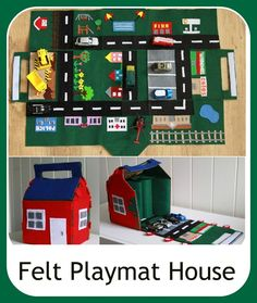 ~ Super awesome ~ Tutorial: Felt Car Play Mat/House  by Narelle - Cook Clean Craft