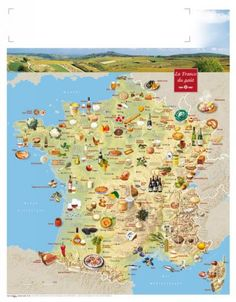 Map on French regional specialties - France has been my favorite country since junior high school. Someday I will visit and see my friends in person. Map Activities, Activities For Kids, Regional, Francia Paris, Food Map, Baking Basics, France Map, Thematic Units, Pinterest Board